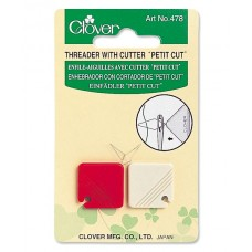 Clover Extra Fine Needle Threader with Thread Cutter