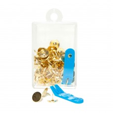 Clover Brass Thumb Tacks with Puller