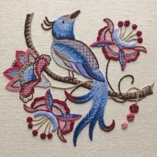 Bluebird Embroidery Company Crewel Work Bird of Paradise