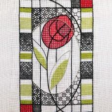 Bluebird Embroidery Company Blackwork Mackintosh Rose
