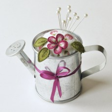 Bluebird Embroidery Company Watering Can Pin Cushion
