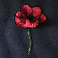 Bluebird Embroidery Company Raised Work Poppy
