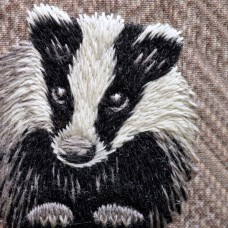 Bluebird Embroidery Company Thread Painting In Wool Badger