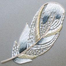 Bluebird Embroidery Company Metalwork Swan Feather