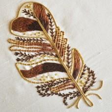 Bluebird Embroidery Company Metalwork Tawny Owl Feather