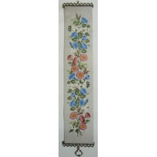 Coleshill Collection Crewel Work Wild Roses Bell Pull